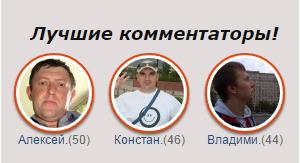 Итоги конкурса на лучшего комментатора февраль 2015!